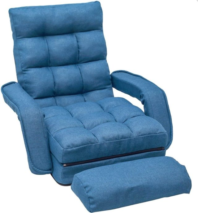 Merax Sofa Lounger Bed with Armrests and a Pillow