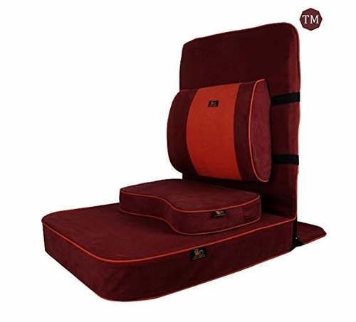 Buddha Meditation and Yoga Chair with backsupport and meditation block