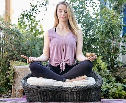 Gaiam Rattan Meditation Chair